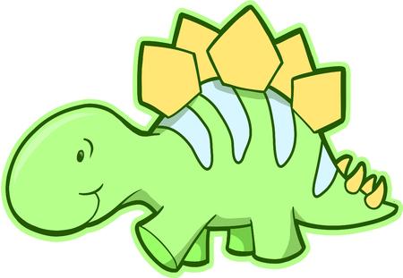 Stegosaurus Dinosaur Vector Illustration