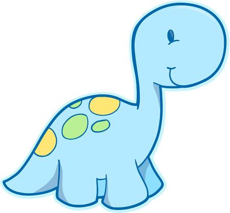 귀여운 공룡 벡터 일러스트 레이션 일러스트