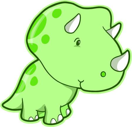 Triceratops Dinosaur Vector Illustration