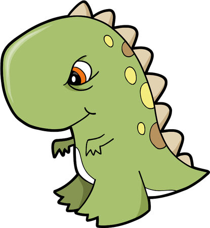extinction: T-Rex Dinosaur Vector Illustration
