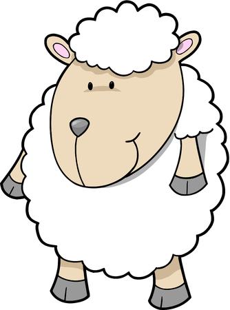 lamb: Cute ovini illustrazione vettoriale