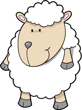 Cute sheep Vector Illustration Stock Vector - 3050791