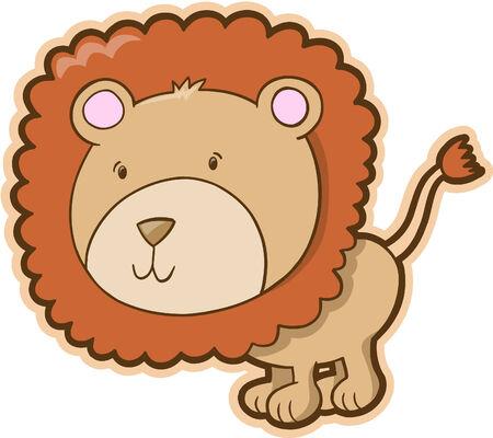 Cute Safari Lion Vector Illustration Stock Vector - 3050810