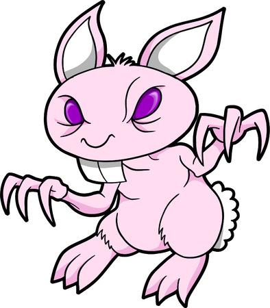 demonic: Demon Bunny Rabbit Vector Illustration Illustration