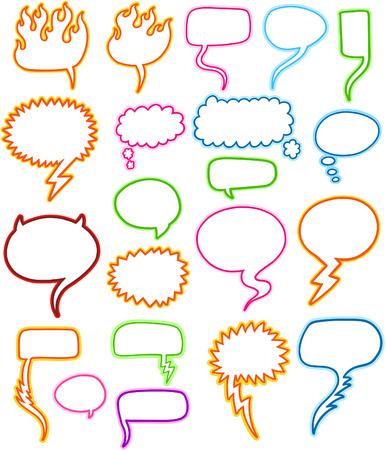 Speech Bubble Set Vector Illustration Vector