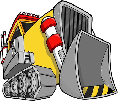 Bulldozer Vector illustratie  Stock Illustratie