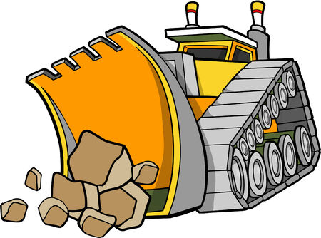 heavy construction: Bulldozer Vector Illustration
