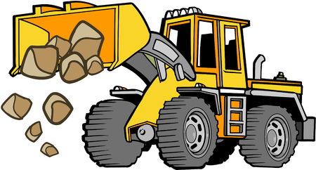 haul: Front loader Vector Illustration