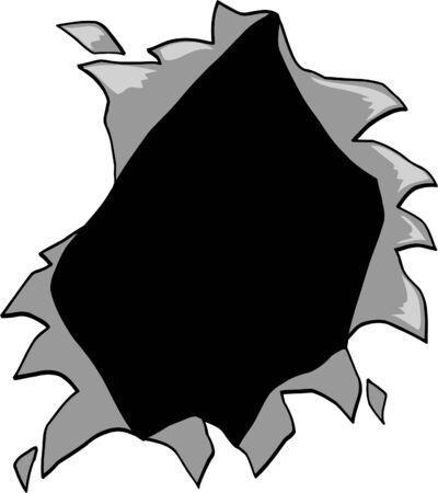 hole: Ripped Hole Vector Illustration Illustration