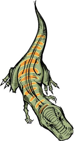 大ざっぱな T-レックス恐竜ベクトル イラスト 写真素材 - 3054817
