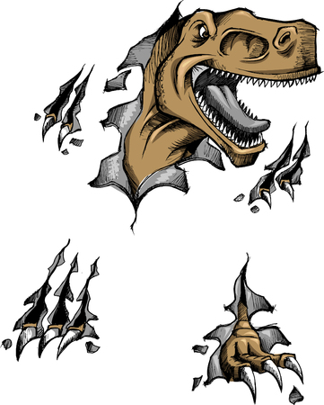 Sketchy dinosaur Vector Illustration
