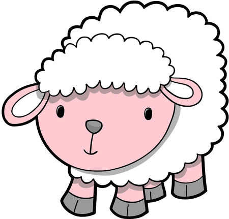 Sheep Lamb Vector Illustration Stock Vector - 3066756