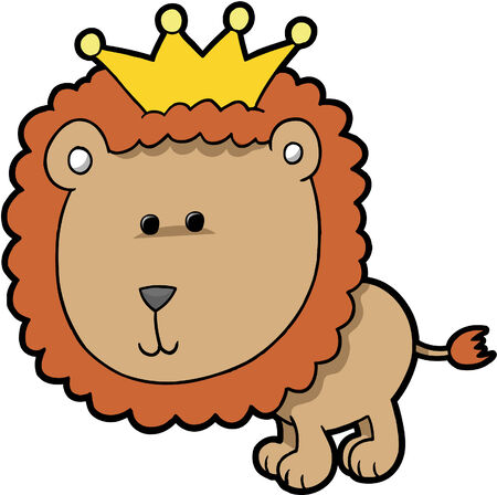 King Lion Vector Illustration Vector