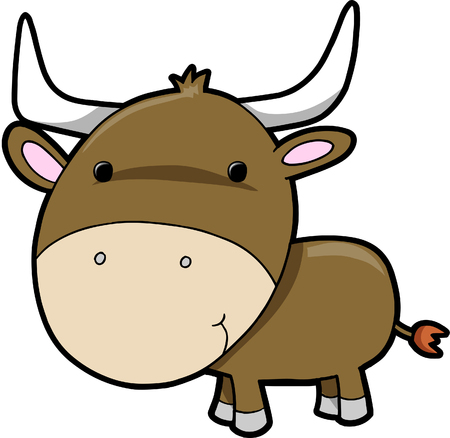Bull cow Vector Illustration