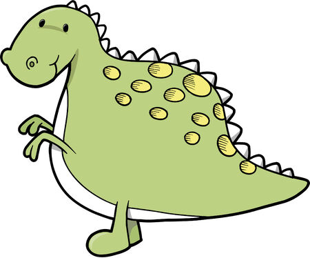 Cute dinosaur Vector Illustration Illustration