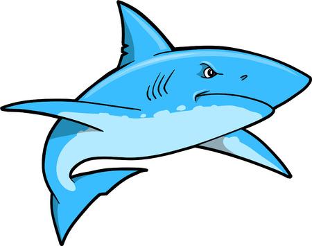 Blue Shark Vector Illustration