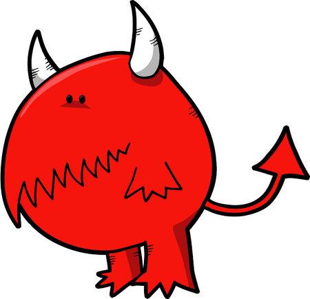diable rouge: Red Devil Vector Illustration