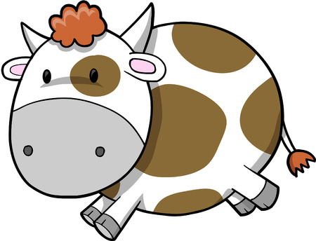 Cute Cow Vector Illustration Stock Vector - 3273660