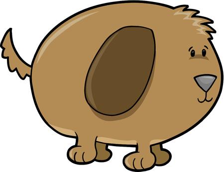mutt: Cane grande illustrazione vettoriale Vettoriali