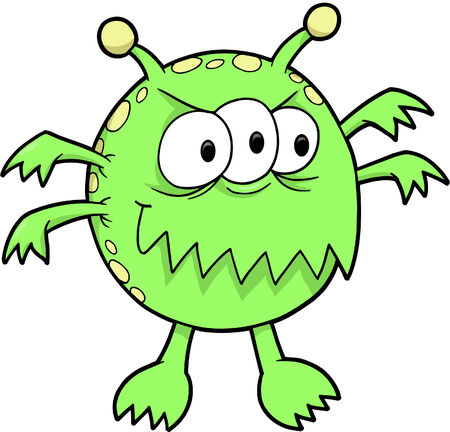 Green Monster Vector Illustration Vector
