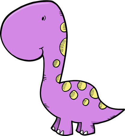 Cute Dinosaur Vector Illustration Vector