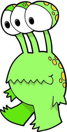 Monster Vector Illustration Ilustração