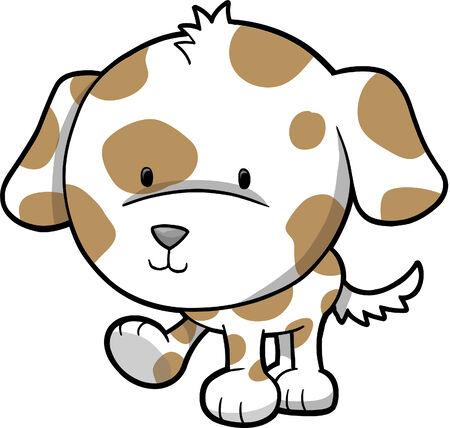 강아지 개 벡터 일러스트 레이션