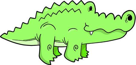 alligator vector Illustration Vector