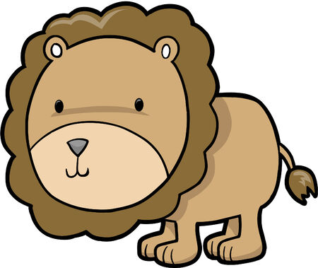 plains: Cute Safari Lion vector Illustration Illustration