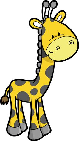 Safari giraffe Vector illustratie Stock Illustratie