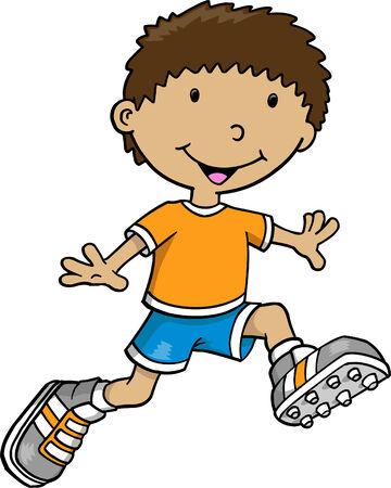 kid vector: Kid ilustraci�n vectorial