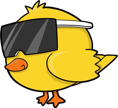 koel: Cool Chick Vector Illustratie Stock Illustratie