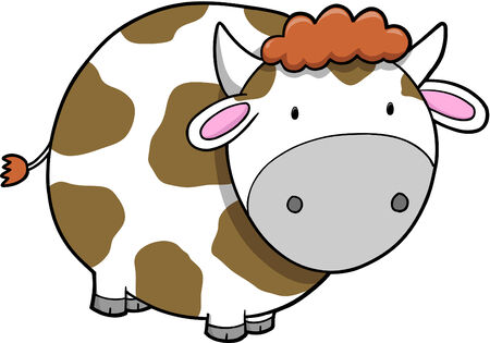 Cow Vector Illustration Stock Vector - 3273736