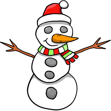 Snowman Vector Illustration Stock Vector - 3273711