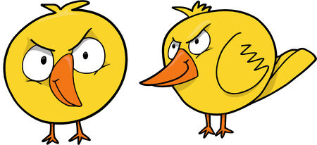 chick: Mean Chick Vector Illustration