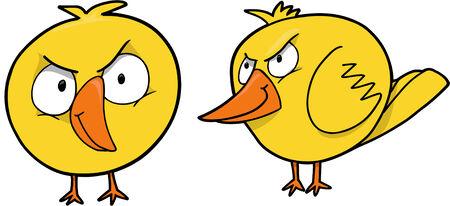 Mean Chick Vector Illustration