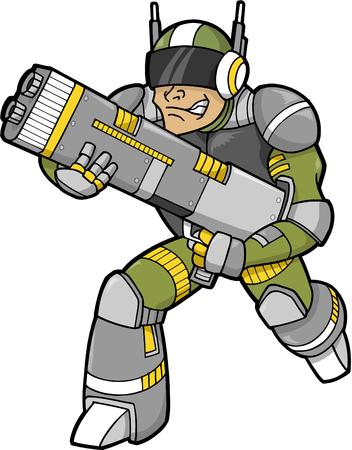 Space Trooper Vector Illustration Stock Vector - 3290638