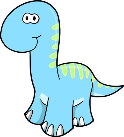 Blue dinosaur Vector Illustration