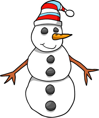 Snowman Vector Illustration Stock Vector - 3290714
