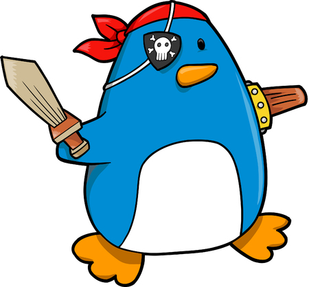 Penguin Pirate Vector Illustration Imagens - 3290717