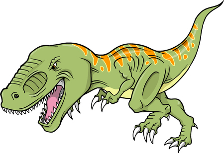 tyrannosaurus: T-rex Dinosaur Vector Illustration