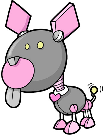 Robot Dog Vector Illustration Illustration