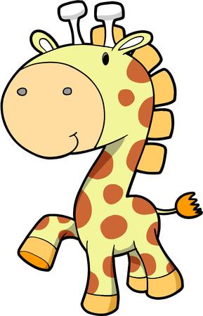 plush: Safari Giraffe Vector Illustration