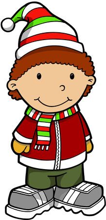 winter jacket: Kid Vector Illustration Illustration