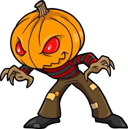 with illustration: Halloween Monster Vector illustration