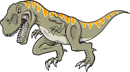 Vector Illustration of a T-Rex Dinosaur   Иллюстрация