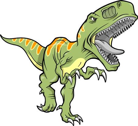 dinosauro: Illustrazione Vettoriale di un T-Rex Dinosaur Vettoriali