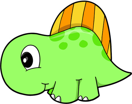 Cute Vector Dinosaur 일러스트