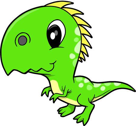 귀여운 벡터 공룡