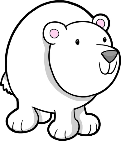 tundra: Polar Bear Vector Illustration